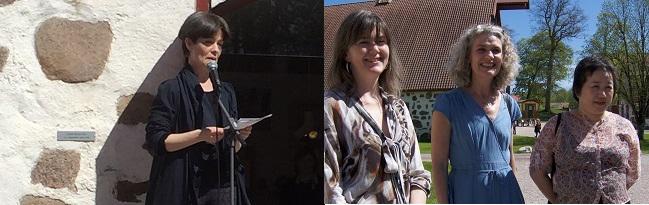 Från vänster: Yukiko Duke, Katarina Löfström och Chiharu Shiota. Foto: Konstepidemin
